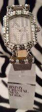 Reloj De Lujo-Jimmy Crystal Adornado Con Cristal De Swarovski Plata 538 ópalo-ricos
