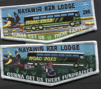 2015 NOAC Nayawin Rar Lodge 296 Fundraiser Set - 2 Flaps -