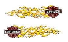 Harley Davidson Aufkleber Set 11x3 Flammen Bar & Shield Decal Helm rechts links