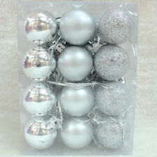 24pcs 3cm Glitter Hanging Baubles Balls  Christmas Tree Party Wedding Decoration