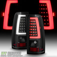Black 1999-2006 GMC Sierra 1500 99-02 Chevy Siverado LED Tube Tail Lights Lamps