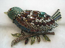 """HEIDI DAUS """"Marquise Madness"""" Bird On A Branch Pin (Orig.$229.95)"""