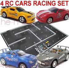 5' x 7' (152cm x 213cm) Racetrack Set Racing Track w/ 4 Pcs 1:63 Rc Racing Cars