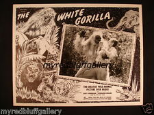 Louis Weiss Presents The White Gorilla 1945 Lobby Card