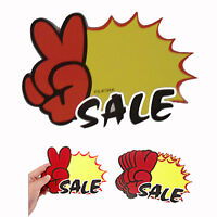 10x Shop SALE Sign Display Blank Pop Price Tag Signboards for Retail Stores Car