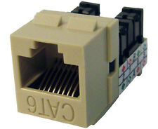 10x CAT 6 Keystone Jack Network Ethernet High Density RJ45 Almond K62-190/L90/AL