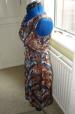 BNWT ESPRIT size M (10-12), sleeveless, lined stretch body-con dress, RRP £59.