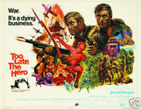 Too late the hero Michael Caine vintage movie poster
