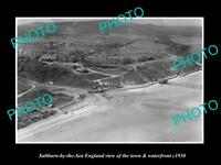 OLD LARGE HISTORIC PHOTO OF SALTBURN BY THE SEA ENGLAND, TOWN & SEAFRONT c1930 1