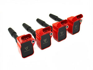 VAGSport High-Discharge Performance Ignition Coils - Red 'R8' Style (4 Pack)