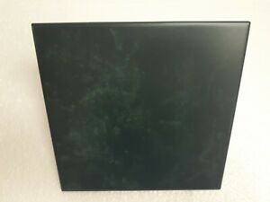 Emerald Green Ceramic Florida Tile 8 in Faux Marble Square Made in USA Vintage