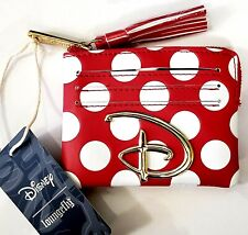 Loungefly Disney MINNIE MOUSE RED AND WHITE POLKA DOT Logo Cardholder