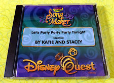 Disney Quest - Radio Disney Song Maker ~ Music CD ~ Let's Party Tonight ~ Rare