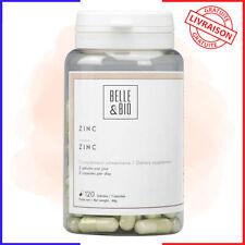 Belle&Bio - Zinc - 120 gélules - 37,5 mg/gélule - Capillaire - Riche en minéral