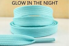 1 Set Of 2 Light Blue Glow In The Dark Shoelaces For Children 44 Inch Lisa