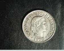 1928-B Switzerland, 10 Rappen, High Grade Cu/Nk Coin  (Swi-17)