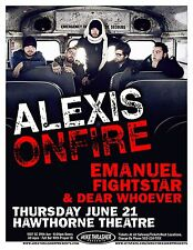 ALEXISONFIRE 2007 Gig POSTER Portland Oregon Concert
