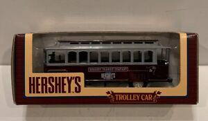 ERTL Hersheys Trolley Car 1:43 Die Cast  Coin Bank 1994 MINT in box