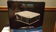 "Ambient Visual Projector-AV 4000 projector w/72"" 3D HD projector screen new!"