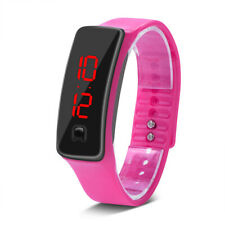 Women Girls LED Digital Sports Watch Silicone Band Electronic Wristwatches Gift