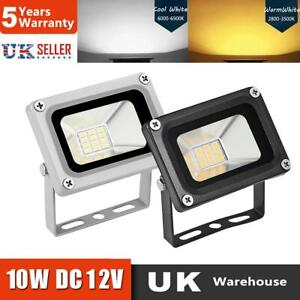 UK 12V 10W LED Floodlight Low Voltage Waterproof Garden Security Light Mini Lamp