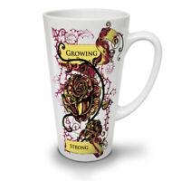 Growing Strong Slogan NEW White Tea Coffee Latte Mug 12 17 oz | Wellcoda