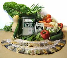 15,000 Non-GMO Organic Heirloom Vegetable Plant Seeds Emergency Survival Garden