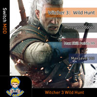 Witcher 3 Wild Hunt (Switch Mod) - Max Money/SKill Points/Level