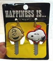 2pcs Peanuts Happiness Is Snoopy & Charlie Brown Key Caps Keycap Ships from USA