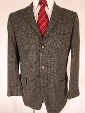Vintage Burnbrae 60s Mens Grey Plaid 3 Btn Tweed Blazer 40R
