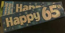 65th  Birthday Banner * Blue Foil * 2.7m will split into 3* 65th Birthday Party