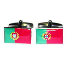 Green, Yellow & Red Portugal Flag Cufflinks & Gift Pouch Portugese Flags New