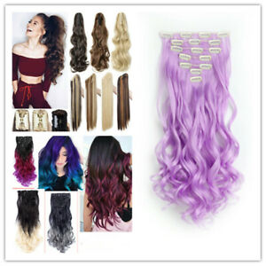 2Types, Clip in Hair Extension Hair Piece, Ponytail Extensions Like Human Hair
