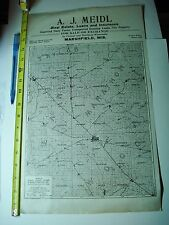 Antique Marshfield Wisconsin A. J. Meidl County Ad MAP