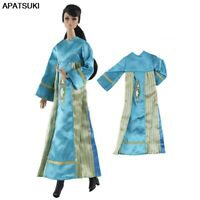 Blue Long Dress For Barbie Doll Clothes Outfits Gown For Barbie 1/6 Doll Clothes