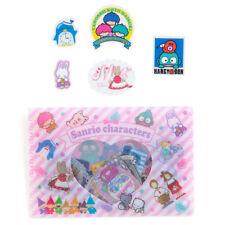 Sanrio characters Cased Sticker '80s tuxedo sam Cheery Chums Hangyodon F/S