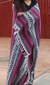 #11 Fun Pink Fuscia Classic Mexican Yoga Work Out Blanket Mat Throw Falsa Travel