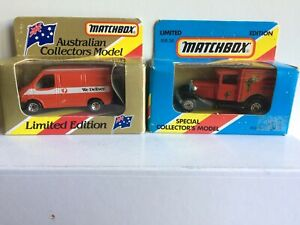 MATCHBOX Limited Edition Model  Arnotts  Ford Model A  and Transit  P.O.Van