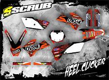 SCRUB  KTM EXC 125 250 300 450 525 2005-2007 Grafik Dekor-Set