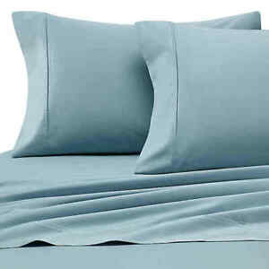 SEAFOAM Heartland 400 Thread Count HomeGrown Cotton Sateen STANDARD Pillowcases