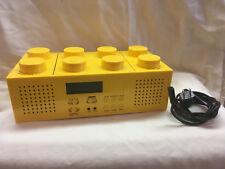 LEGO YELLOW BRICK PORTABLE CD PLAYER WITH AM/FM RADIO LG11013