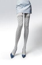 Ecru or Navy Argyle Diamonds Fantasy Women Lady Thicker Tights Hosiery T69