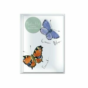 Madeleine Floyd Butterflies Peacock Common Blue 8 mini note card pack