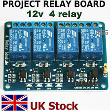 Project 12v  4 Relay Board Module   4 channels   Arduino Raspberry Pi - UK Stock
