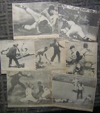 (56) Different 1950's/60s Sports Clippings - All Baseball Players Sliding Photos