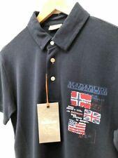 """Brand new Napapijri Short sleeve polo in navy  rrp£70     Small 19"""" p2p"""