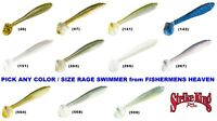 Strike King Rage Swimmer Swimbait Pick any RGSW Color / Size 2.75 3.75 4.75 Inch