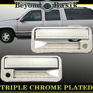 1988-1998 GMC CHEVY C K 1500 94-00 2500 3500 2dr Chrome Door Handle COVERS Trims