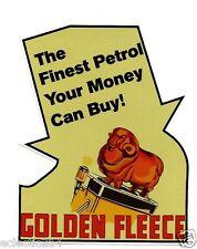 """GOLDEN FLEECE"" VINYL Sticker Decal Garage Service GAS Station Petrol Retro"