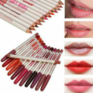 New 12 Colours-Set-True Lips Makeup-Lip-Liner-Pencil-Cosmetic-Eyeliner Lipliners